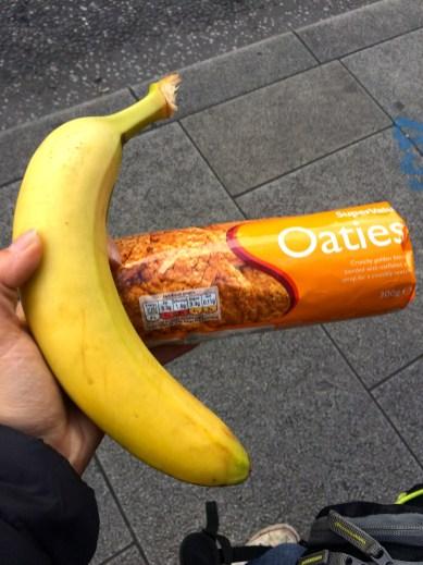 Irish biscuits and banana