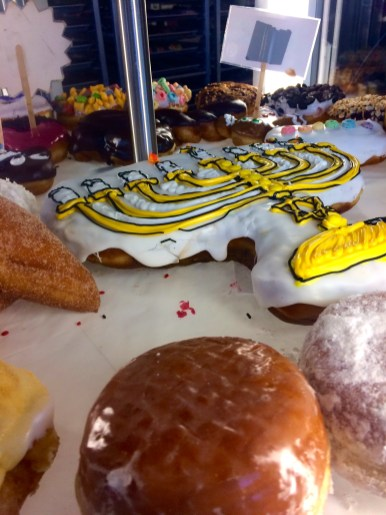 Religious themed doughnuts of celebration
