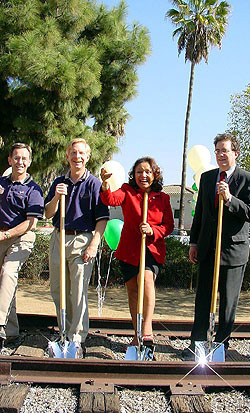 Whittier Greenway Trail groundbreaking