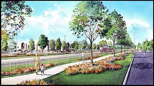 SFV east-west busway rendering
