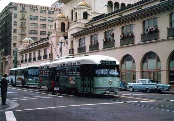 LAMTA streetcar and bus