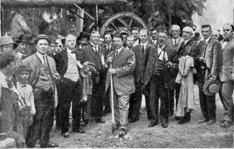 First state highway groundbreaking, 1912
