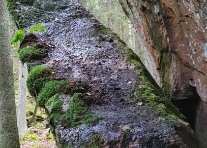 Huikeat Kakarbergetin kalliot Pohjois-Kirkkonummella