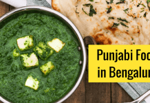 Punjabi food in Bangalore.