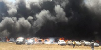 300 Vehicles On Fire