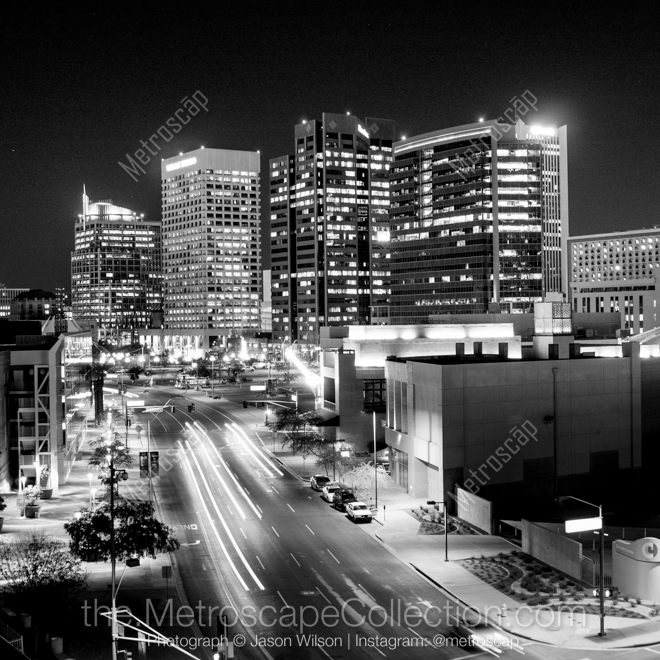 And Black White Skyline Phoenix