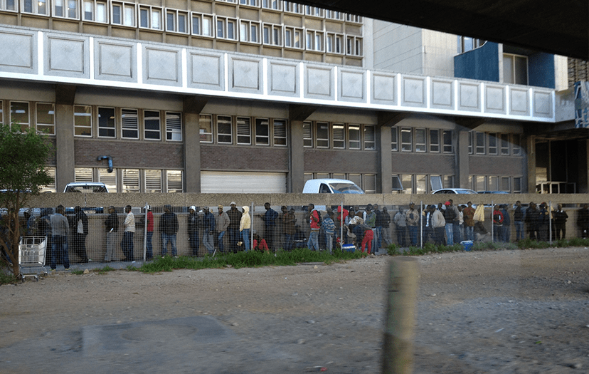 Angry Assylum seekers protest at Foreshore HomeAffairs