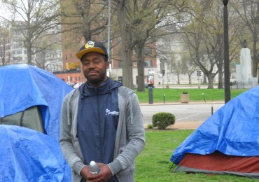 Homeless in tent city want to 'be seen'