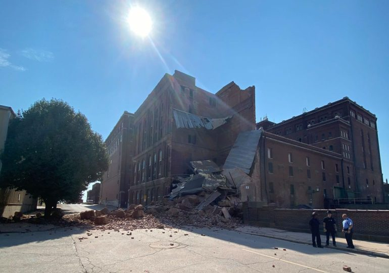 Part of old Lemp Brewery collapses; no one hurt
