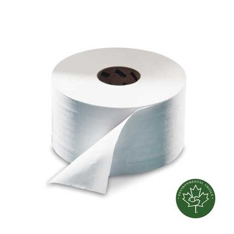 "9"" jumbo bathroom tissue, eco green source 100% recycled - metro"