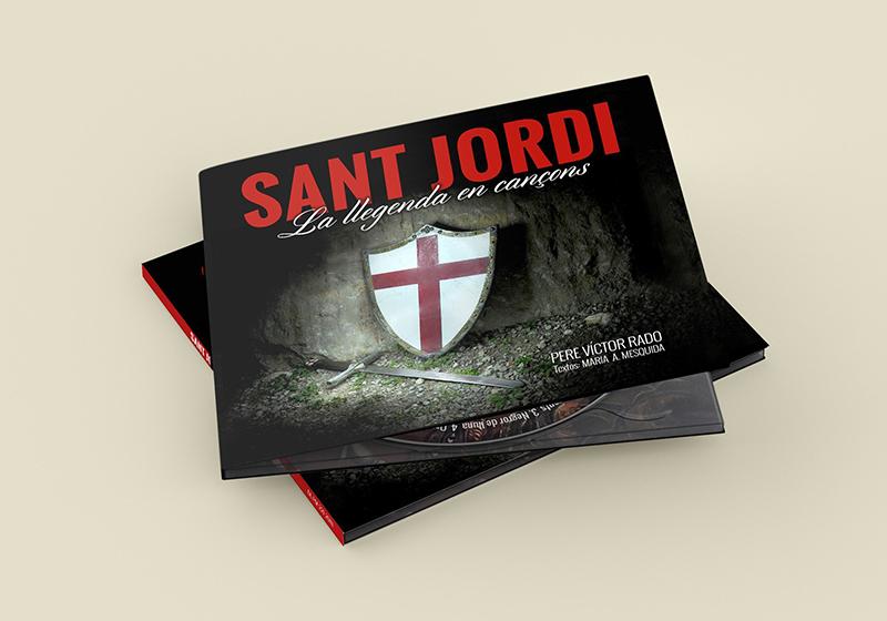 Diseño portada CD Sant Jordi La llegenda en cançons