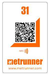 Metrunner OLTags with NFC and QR code - bleep your phone at checkpoints