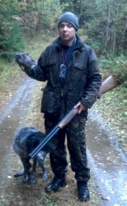 Kaatosade, pyy ja onnellinen metsästäjä
