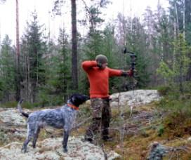 Jousimetsästys onnistuu myös koiran kanssa