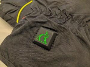 Kiruna-lämpökäsineet, vihreä väri osoittaa miedoimman lämpötilan
