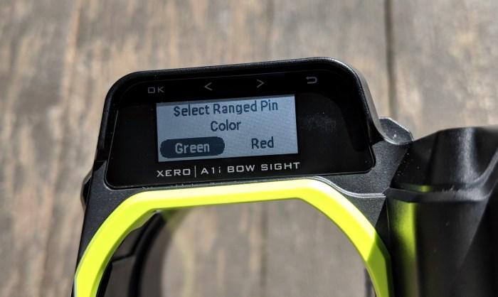 Xero A1i tiedustelee käytettävän pinnin värin