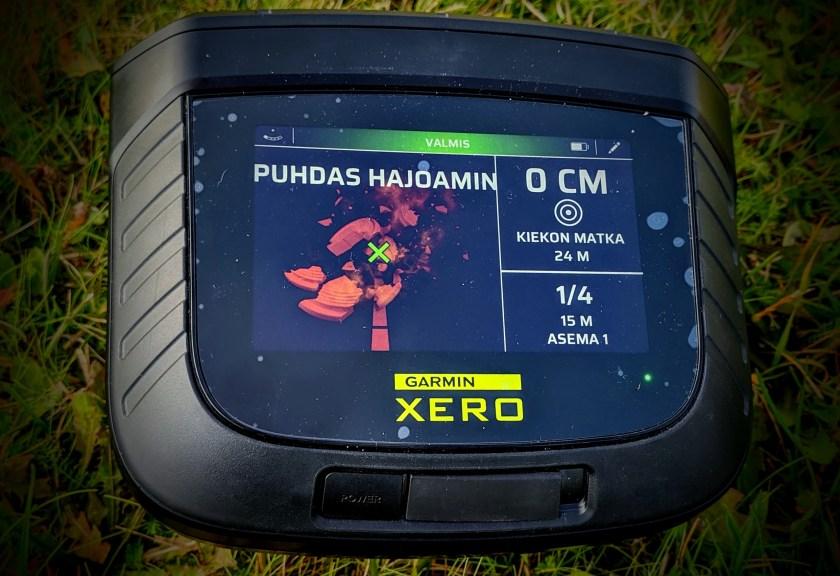 Garmin Xero S1 osumanäyttö: nappiosuma