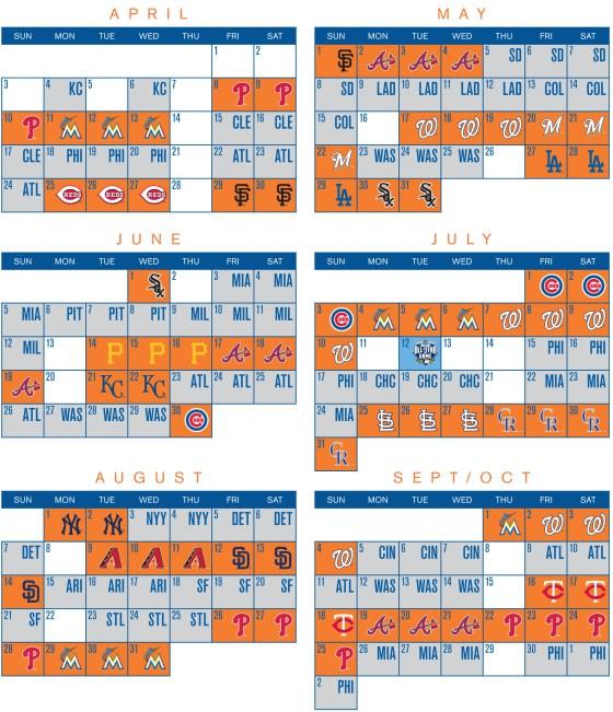 Kansas City Royals 2017 Calendar