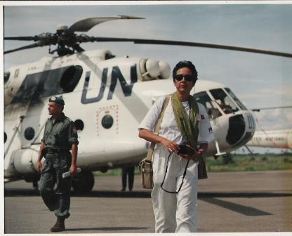 Mette Holm i Cambodia med FN/UN