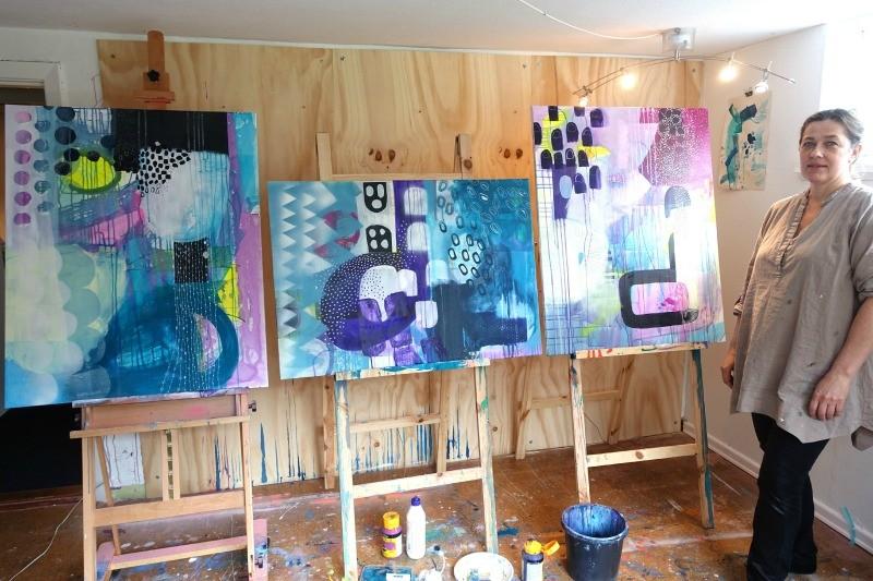 til undervisning i abstrakt maleri
