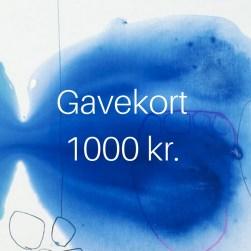 maleri gavekort 1000 kr.