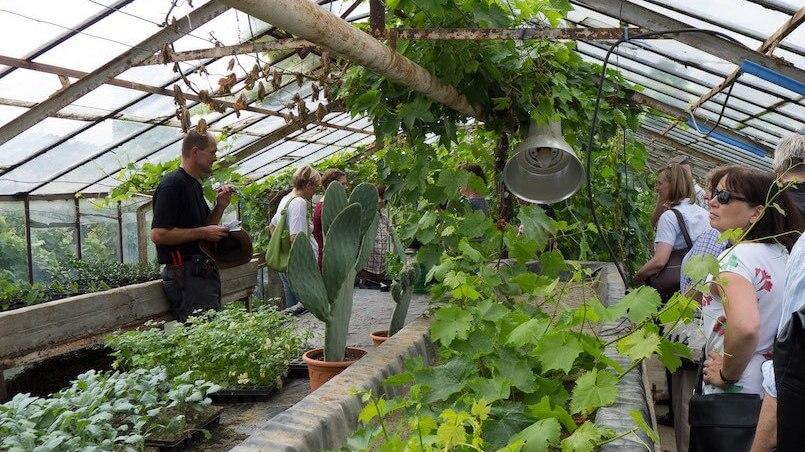 Kölner Slow Food Mitglieder beim Besuch der Gartenoase (Foto: Gert Weber)