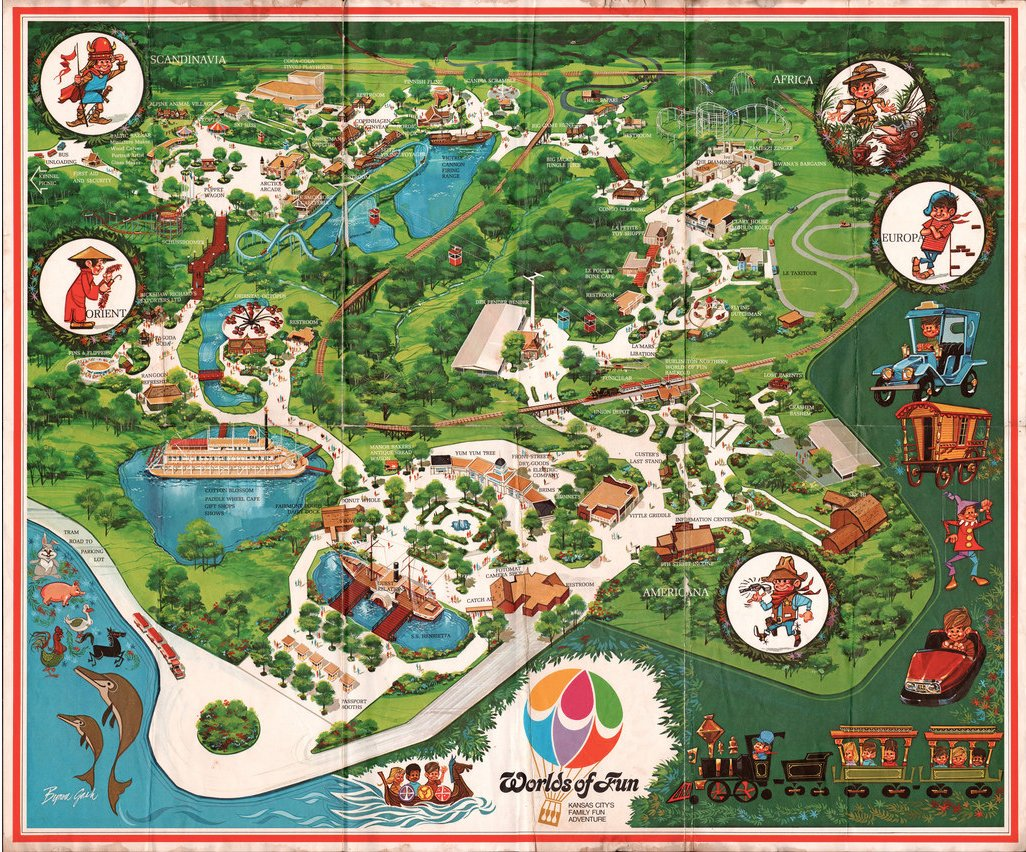 These Old School Theme Park Maps Helped You Find All The