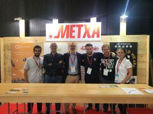 Stand de Metxa en el evento B-Venture 2017 con los emprendedores