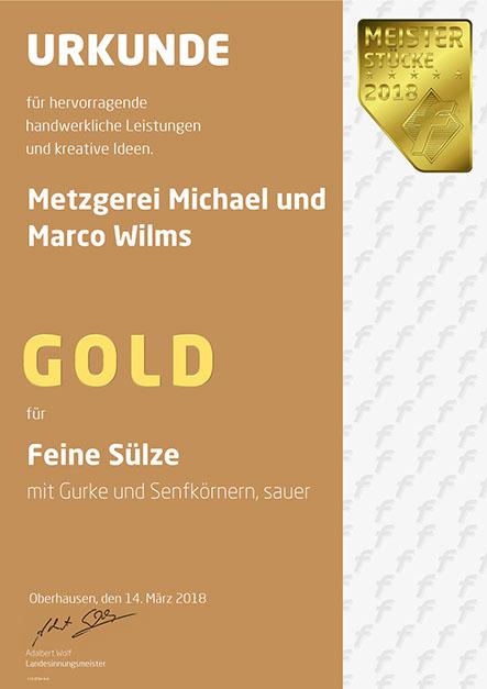 Auszeichnung Feine Sülze
