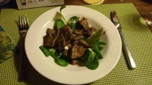 Salatteller mit Leberli - was für eine Vorspeise