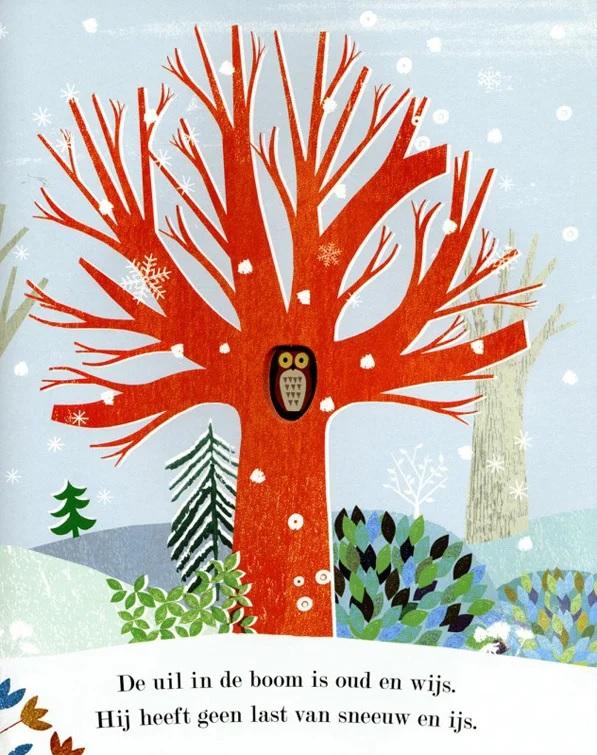 Sinterklaas of kerstcadeau - uil in de boom