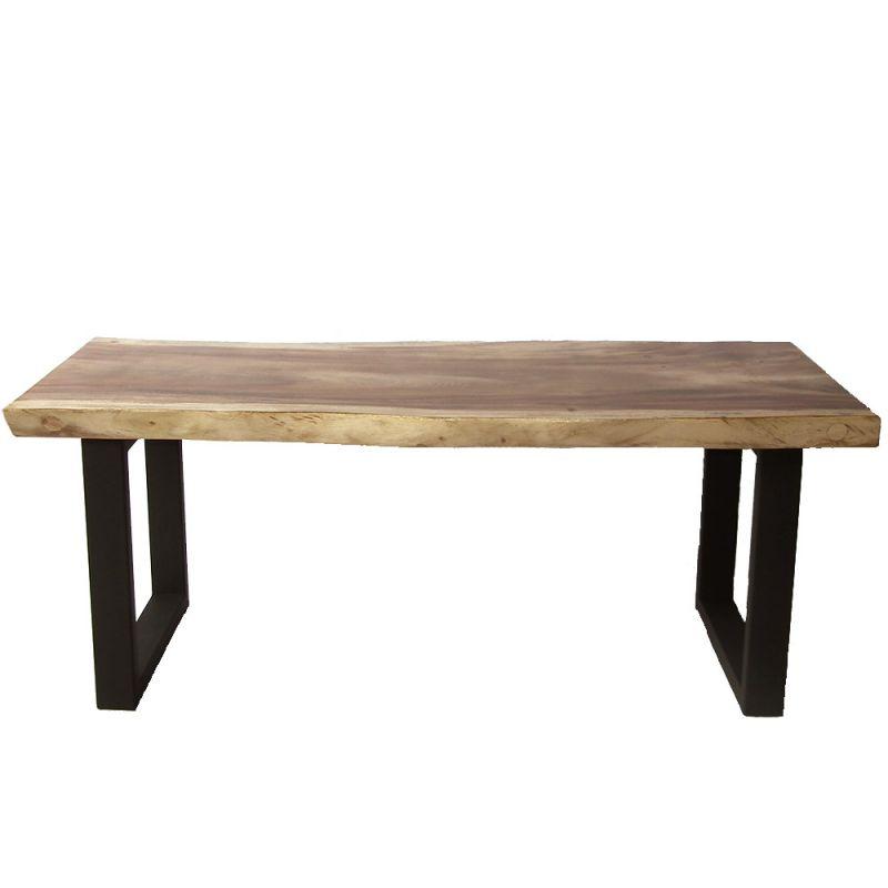 table suar massif samanea pieds metal u