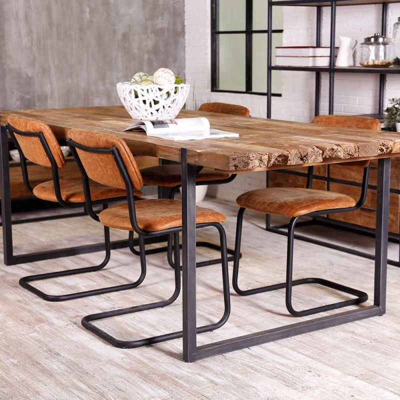 table teck et metal recycles urban 180cm