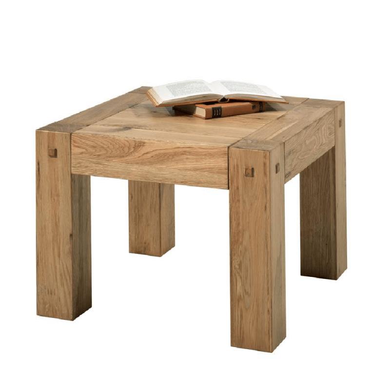 table basse carree chene huile oakwood 60cm