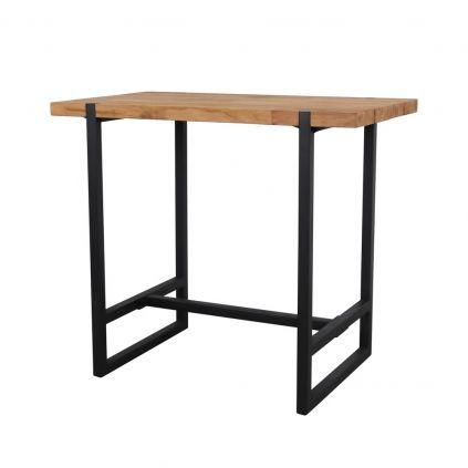 table haute bois massif table haute