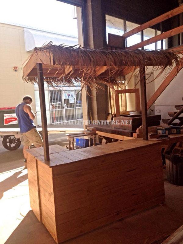 Bar De Style Hawaen Avec Des Palettes 1Meuble En Palette