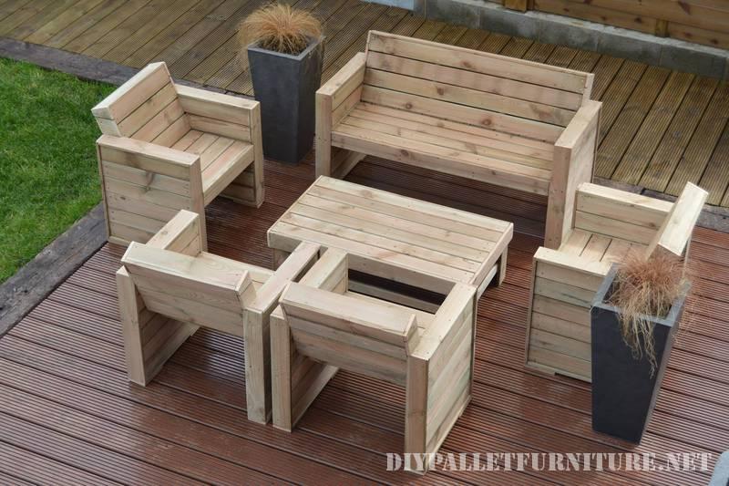 Mobilier Pour La Terrasse Avec PalettesMeuble En Palette