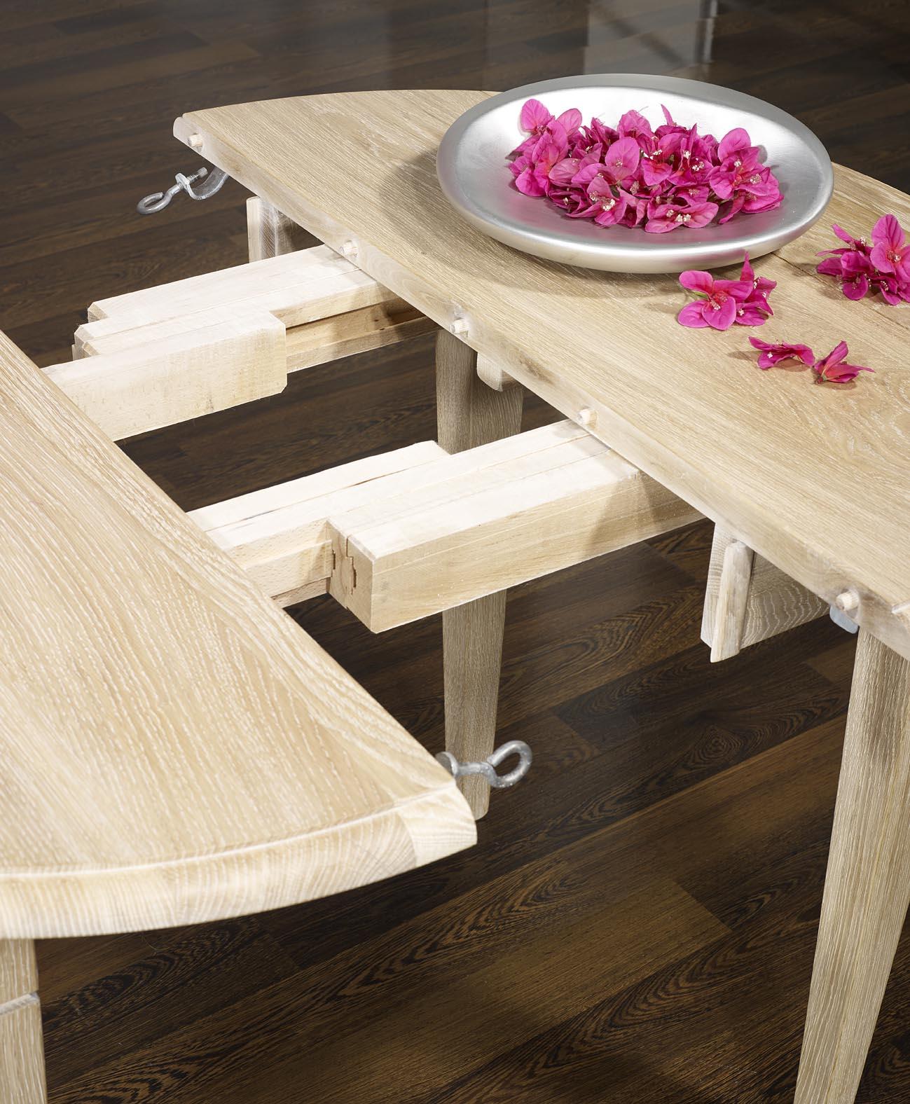 table ronde a volets diametre 80 cm en