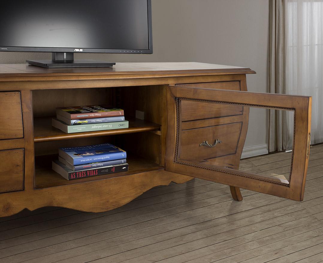 meuble tv adele en merisier massif de