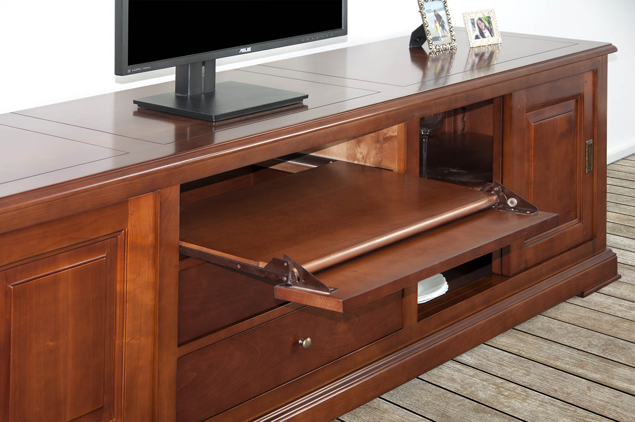 meuble tv 16 9eme lise en merisier