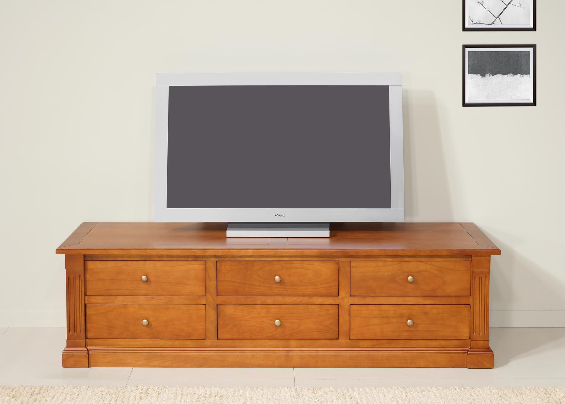 meuble tv 16 eme laurence en merisier de style directoire longueur 170 cm meuble en merisier