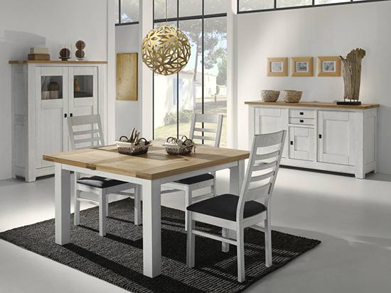 table en bois extensible campagne