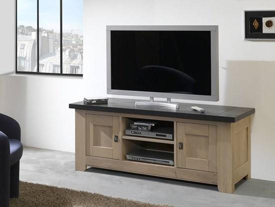 petit meuble tv en bois whitney