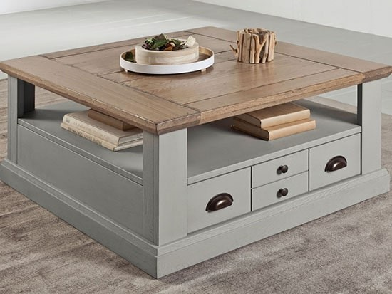 table basse bois style campagne chic
