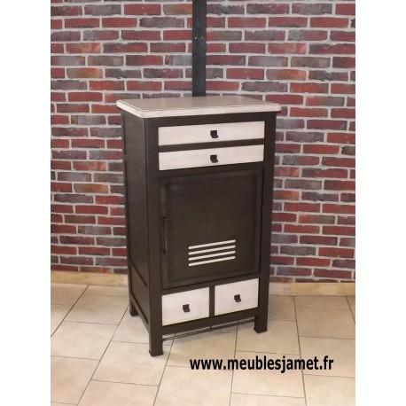 petit meuble d entree chene et metal style industriel meublesjamet