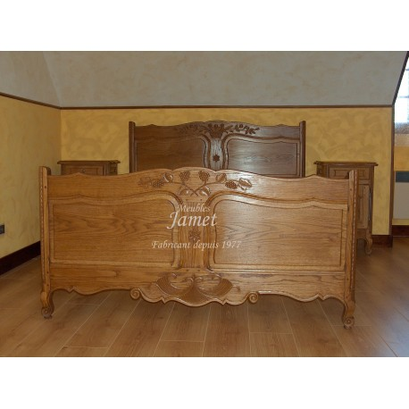 lit en bois sculpte meubles jamet