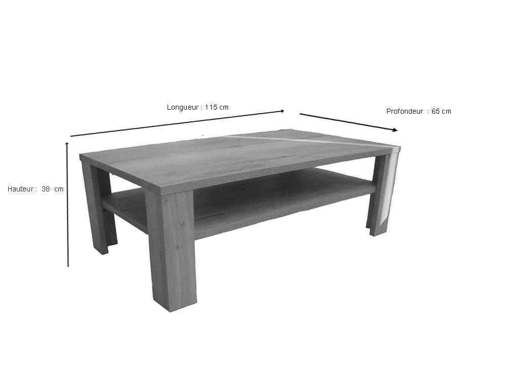 table basse himalaya pieds bois chene
