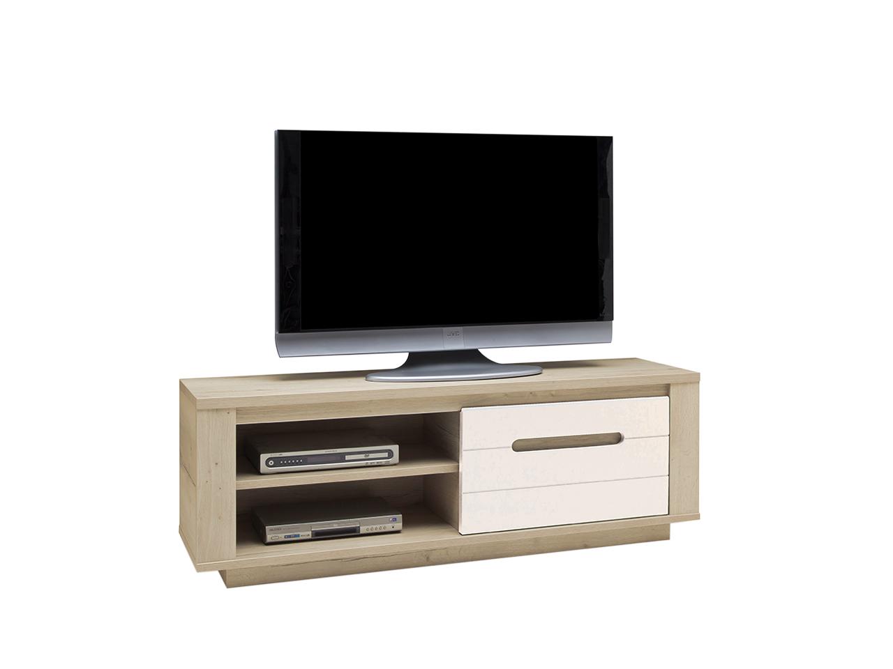 meubles tv himalaya l140 perle blanc