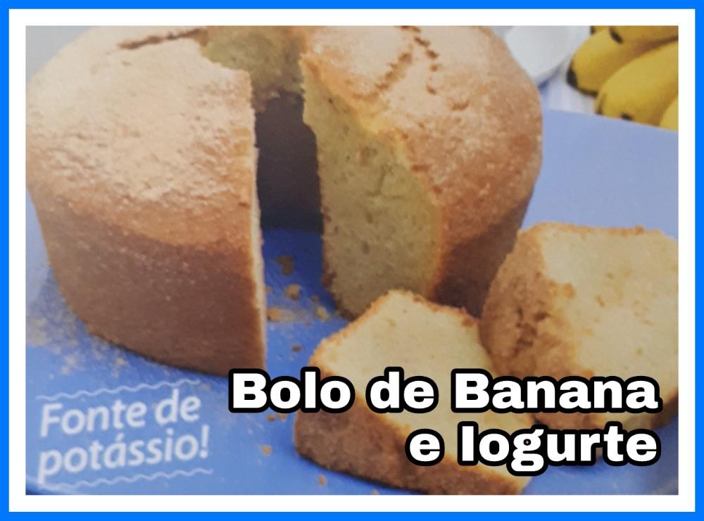 Bolo de Banana e Iogurte