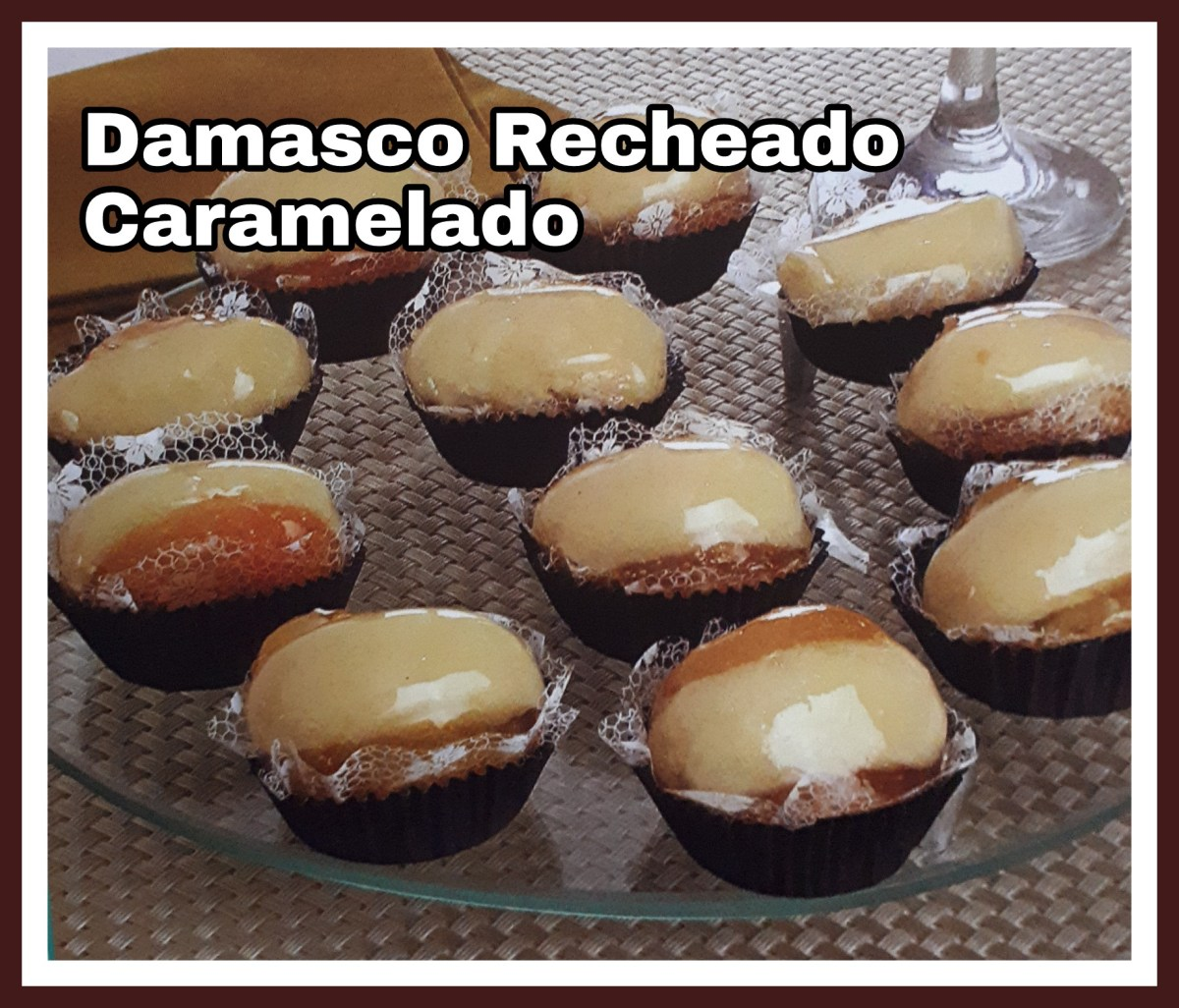 Damasco Recheado Caramelado